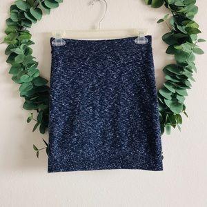 Rag & Bone Navy Knit Mini Skirt